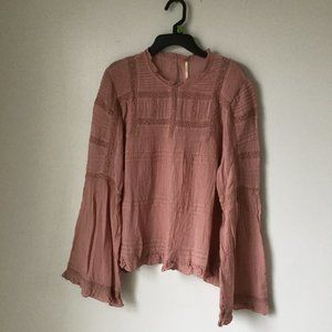 Free People Olivia Blouse Color: Peony Size S